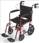 "Aluminum Transport Chair with 12"" Wheels,Red"